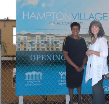 Commissioner Audrey Edmonson & Carrfour President  Stephanie Berman-Eisenberg