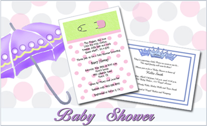 Invitation for Baby Shower Party