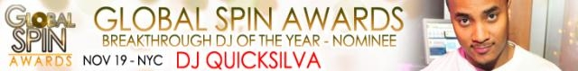 Global Spin Awards Nominee, DJ Quicksilva