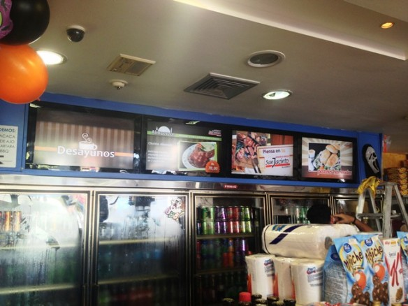 Digital Signage en gasolinera San Jacinto