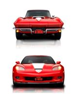 Prizes include both of these gorgeous Chevy Corvettes.