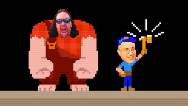 Patterson (left) and Gold as the Wreck It Ralph film characters
