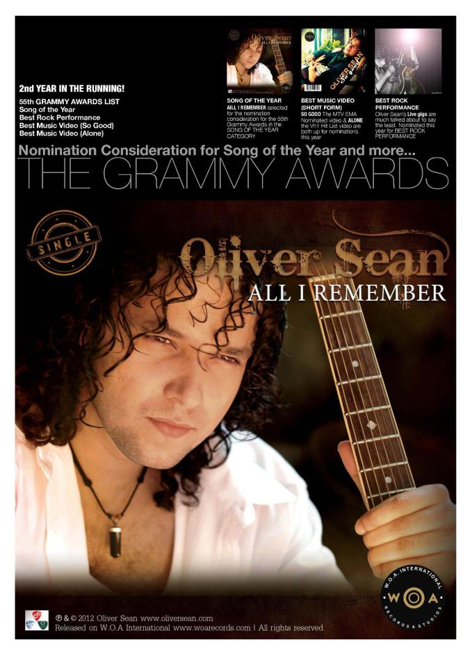 Oliver Sean 55th Grammy Awards Final List