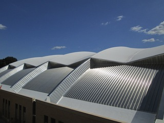 Birdair Tensotherm roof at the McClain Athletic Facility