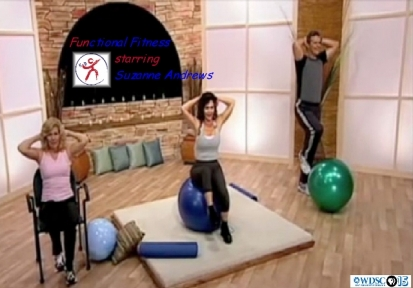 Suzanne Andrews Guides Viewers with 3 Levels of Exercise