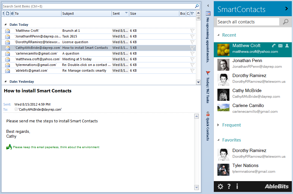 Smart Contacts