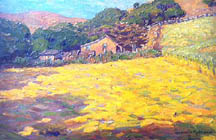Granville Redmond (Californian, 1871-1935) 'Sunny Stubblefield,' oil on canvas
