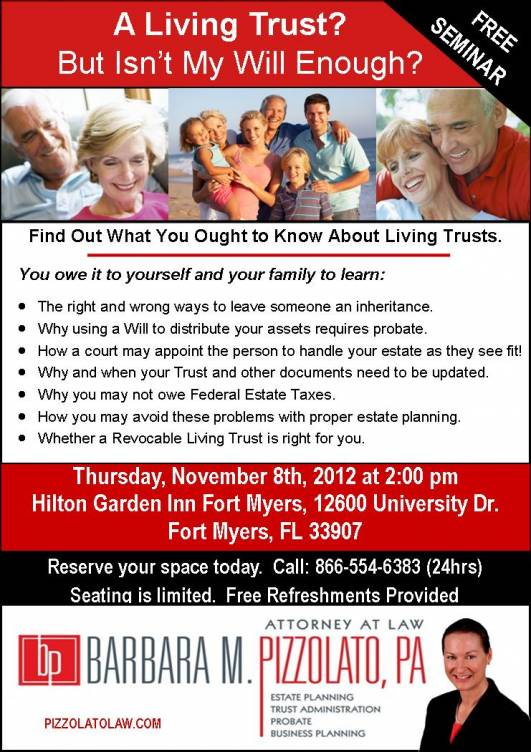 Living Trust Seminar