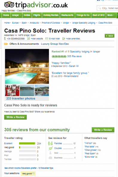 iznajar spanish holiday villa rental trip advisor reviews