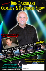 Don Barnhart Comedy Hypnosis Show Poster