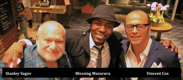 Stanley Sagov, Bless Mazarura and Vincent Cox