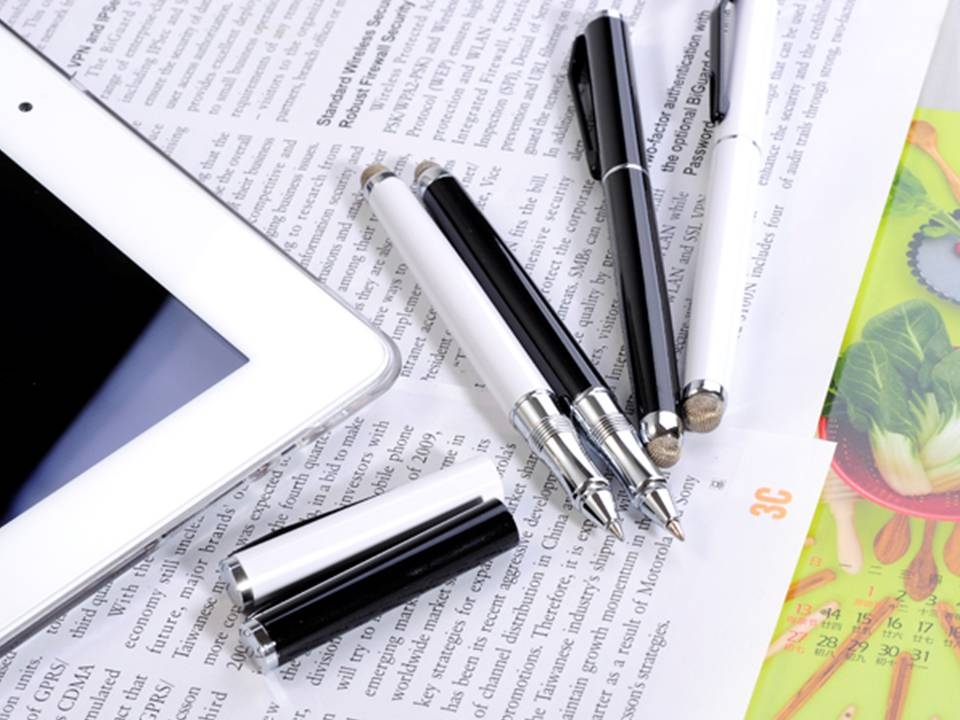 MICROFIBER FABRIC TIPPED STYLUS PEN DUO