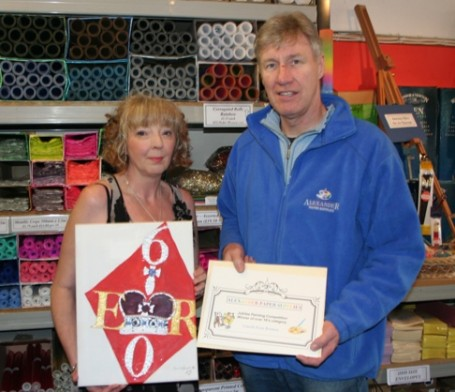 Competition winner Carol Ann Brown with Sandy Cowe