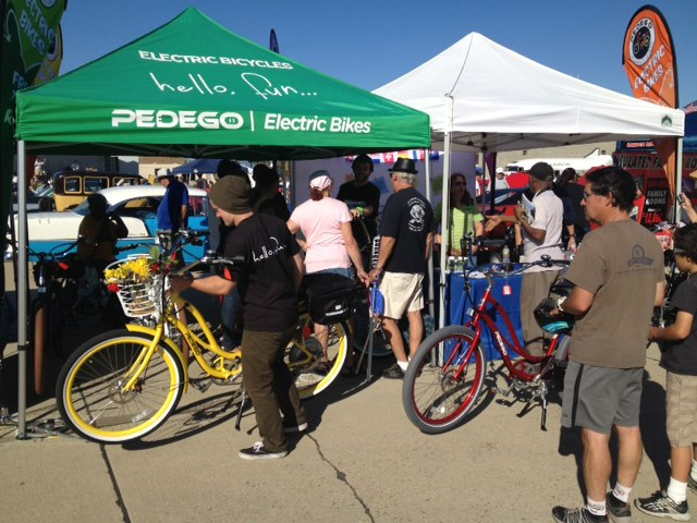 Pedego Long Beach's e-bikes were a hit at Wings, Wheels & Rotors.