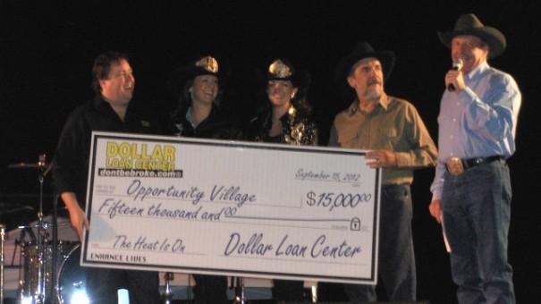 Opportunity Village check presentation 2012