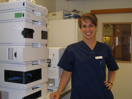 Elin Widing, chemist at Unilabs AB in Eskilstuna, Sweden.