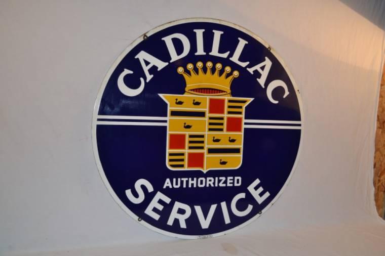 Cadillac Service porcelain sign