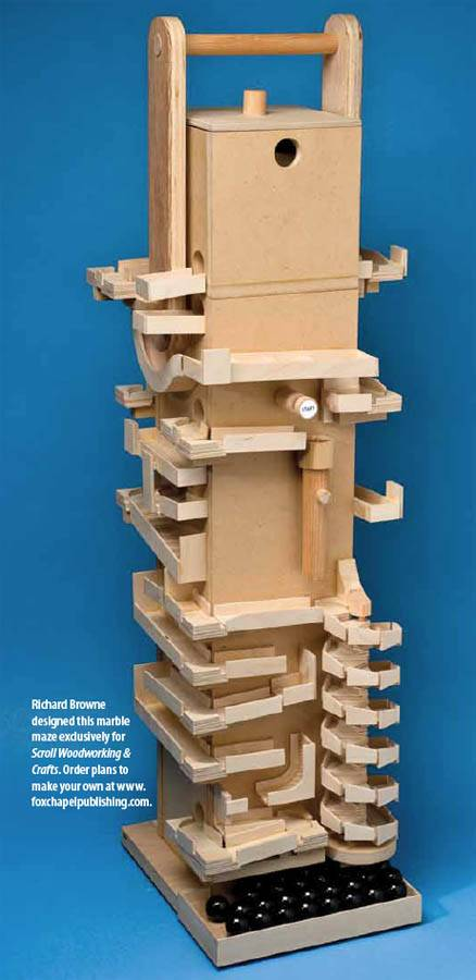 Richard made this marble machine for Scroll Saw Woodworking & Crafts magazine