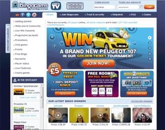 Play Now at Bingocams