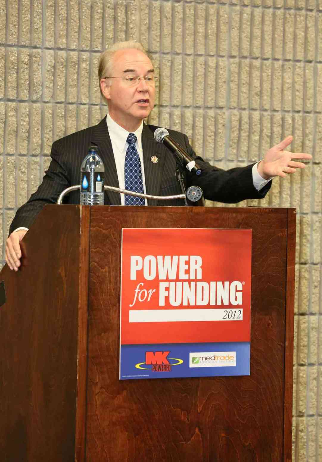 Congressman Tom Price (GA), MK Battery Power for Funding Reception-Medtrade 2012
