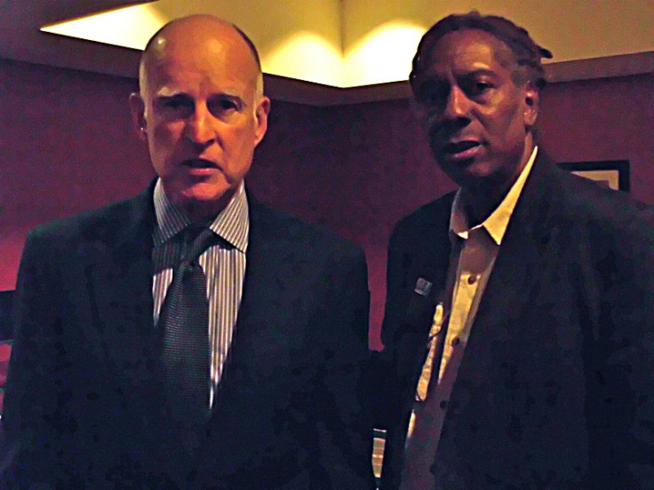 Governor Jerry Brown and SF Filmmaker Jacquie Taliaferro at NAACP Convention.