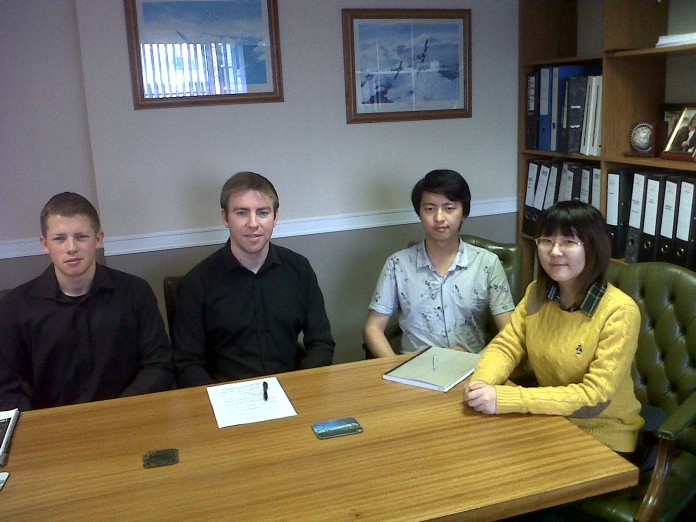 The Students - James Norris, David McGrath, Jeremy Ding and Felicia Wang