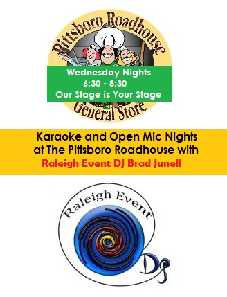 Come Perform at the Pittsboro Roadhouse with Raleigh Event DJ