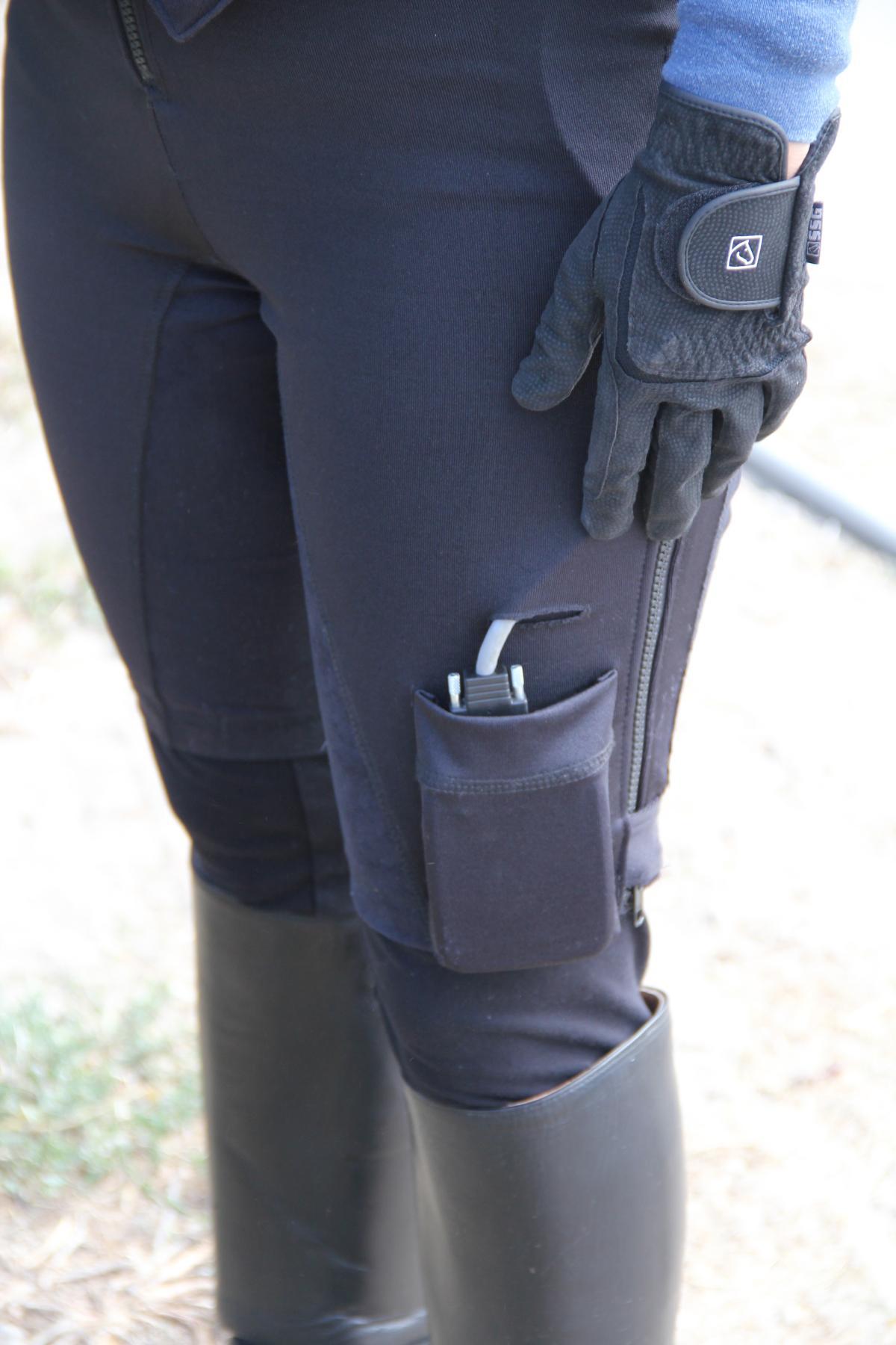 Equisens Equestrian Balance Sensor Controller in Pocket