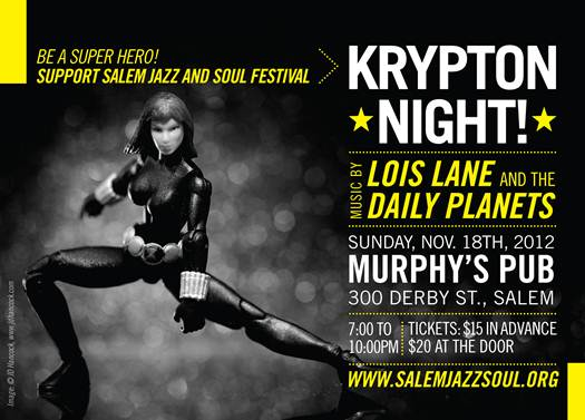 Have a KRYPTON NIGHT with the Salem Jazz and Soul Fest