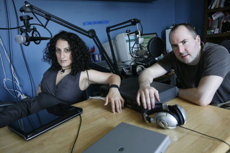 Keith Malley and Chemda in their New York studio