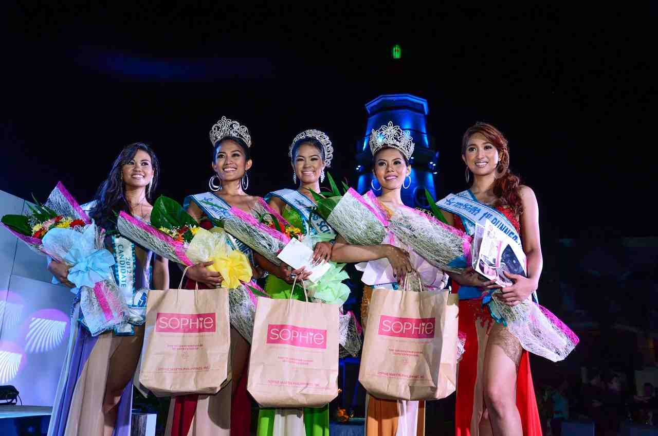 Top 5 Winners of the Miss SCUBA Philippines 2012 P