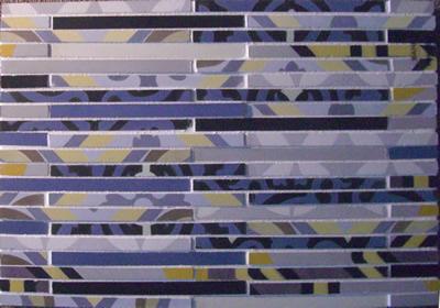 Fragments Mosaic Cement Tile Bar