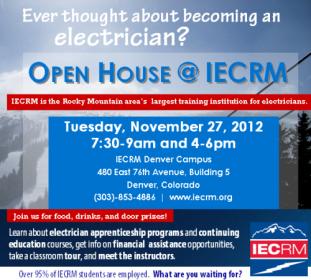 Electrical Apprenticeship Program Open House in Denver Colorado - IECRM