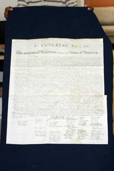 Peter Force 1843 copy of  Declaration