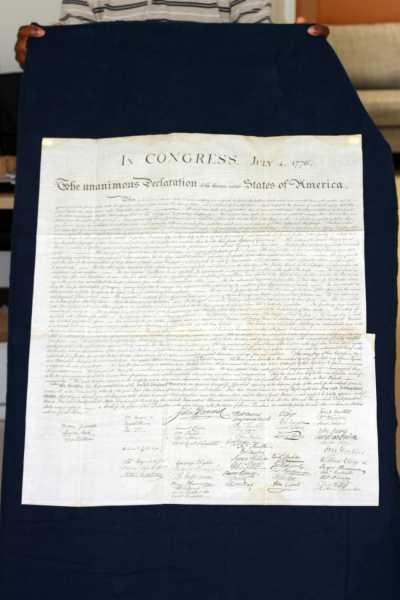 Peter Force 1843 copy of  Declaration