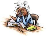 stressed over exam