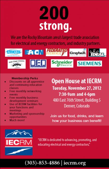 Trade Association Open House in Denver, Colorado - IECRM