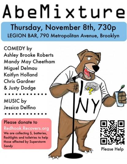 AbeMixture, Nov 8th, 7:30 PM, Legion Bar, Williamsburg, Brooklyn, NY