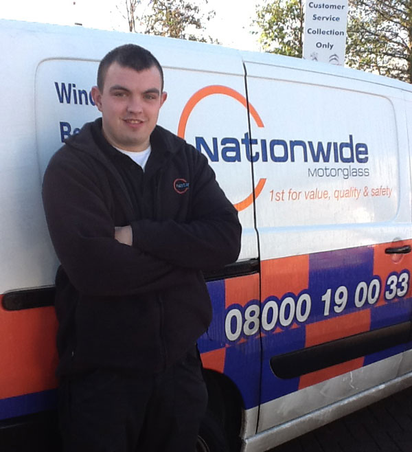 Jamie Medlicott has valued his automotive glazing Apprenticeship
