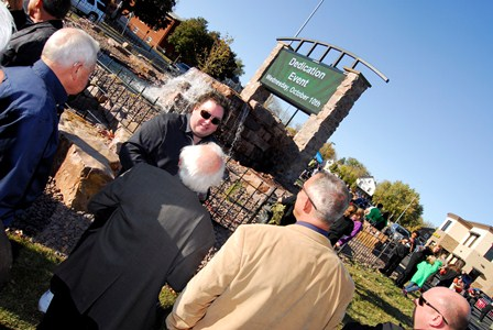 Chuck Brennan donates Pettigrew Heights entry sign