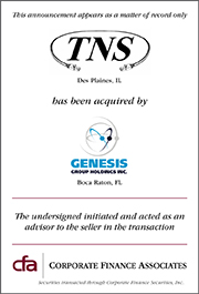 Genesis Group Holdings, Inc. acquires TNS, Inc.