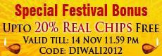 Diwali 2012 Rummy Bonus