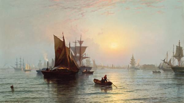 Edward Moran oil painting