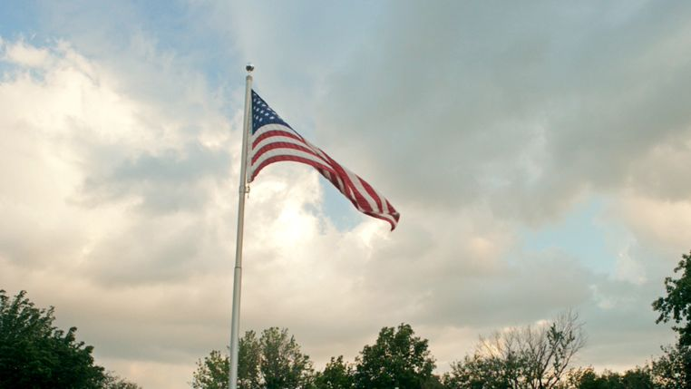 Haley's flag featured in video.