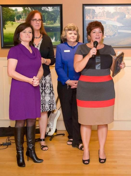 Karen Cox accepts AMI Chamber Award