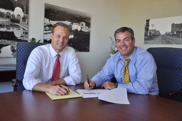 Preston Cavignac receives training from Patrick Casinelli, Cavignac & Associates