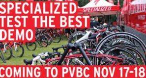 Test The Best Road Bikes - Specialized at PV Bicycle Center Nov 17-18