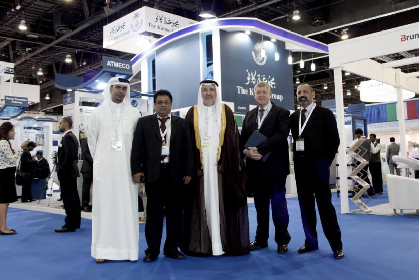 Among the key persons at The Kanoo Group exhibition at ADIPEC