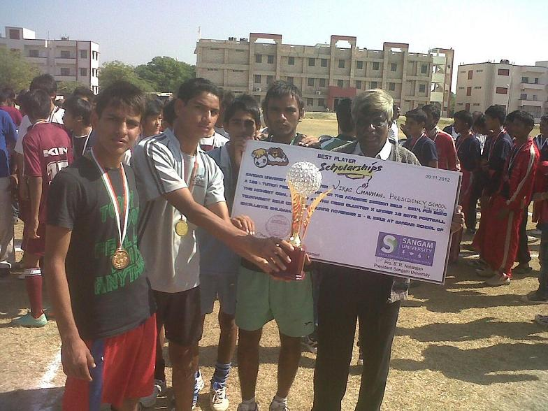 CBSE Cluster X Football Tournament: Sangam University Bhilwara Scholarship Award