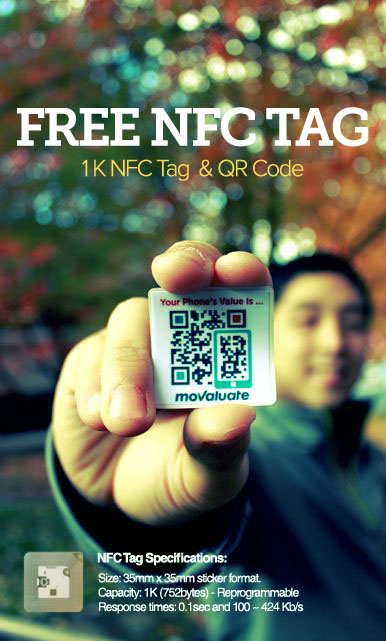 Movaluate's Free NFC-QR Tag Giveaway Event